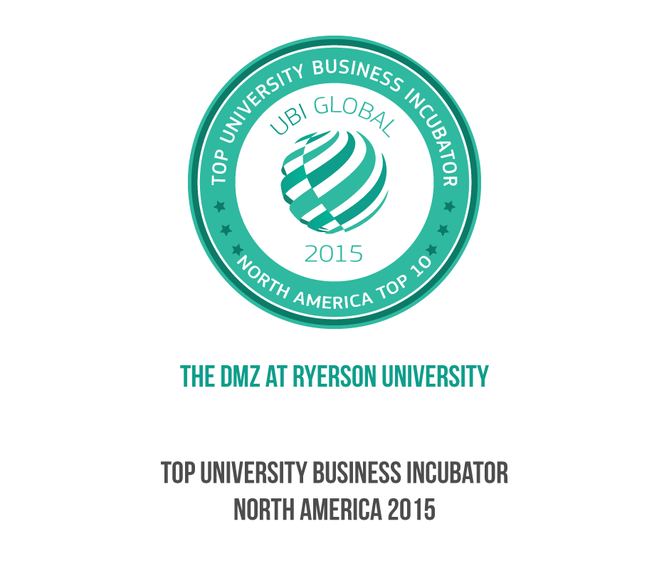 Swedish firm UBI Global ranked Ryerson's DMZ as the number one university business incubator in North America this year.