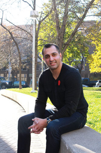 Ovais Ahmed, head of Ryerson's veterans alumni group, wants to help support ex-military students. (Charlotte Arnold/Ryersonian Staff)