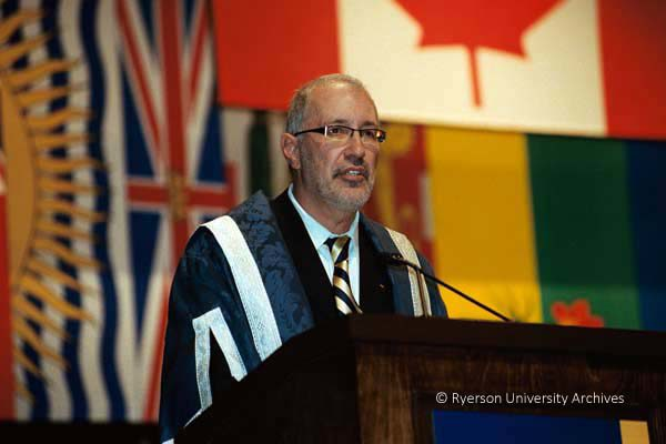 Levy at his installation ceremony, November 2005 (Courtesy Ryerson Archives)