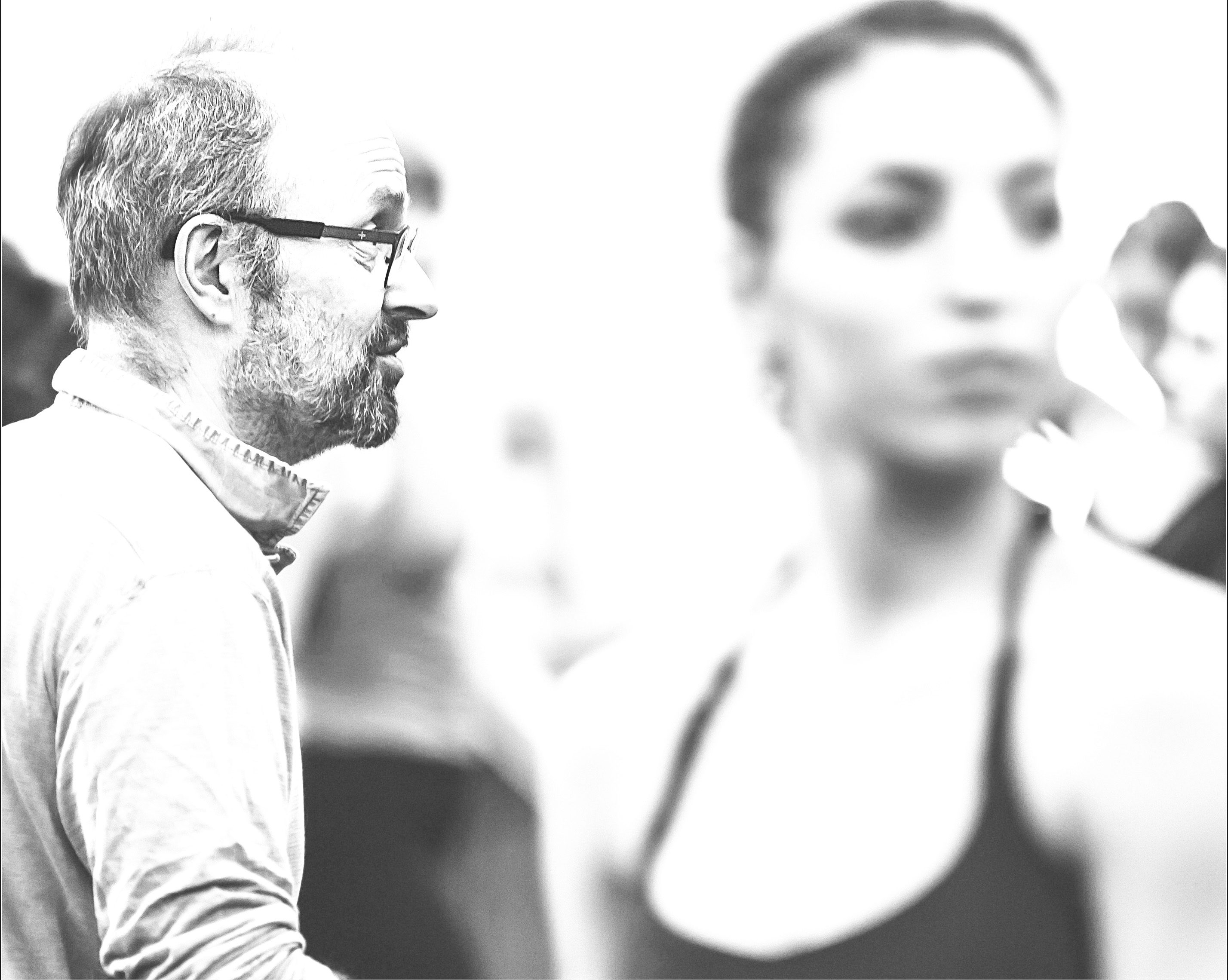 Acclaimed choreographer James Kudelka with Ryerson Theatre School dancers. (courtesy Jeremy Mimnagh)