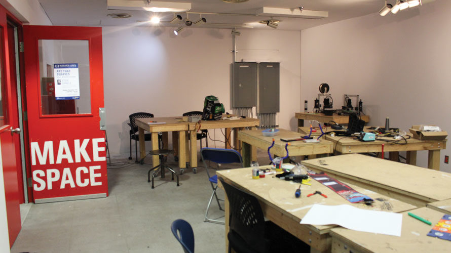 An existing makerspace inside the Rogers Communications Centre used by new media students. (Ban Ibrahim/Ryersonian Staff)