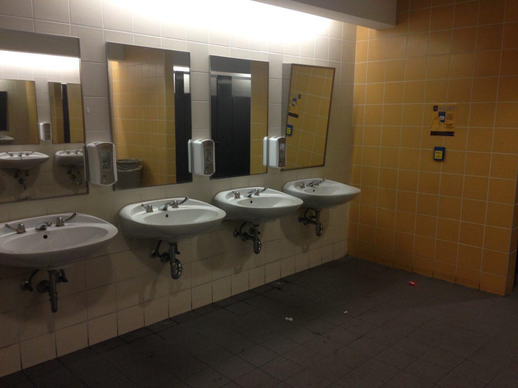 A women's washroom on campus. (Angela Serednicki/Ryersonian Staff)