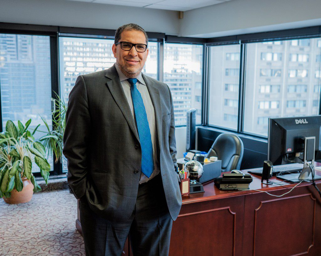 Interim president Mohamed Lachemi in his new office, Nov. 30, 2015. (Steven Goetz/Ryersonian Staff)