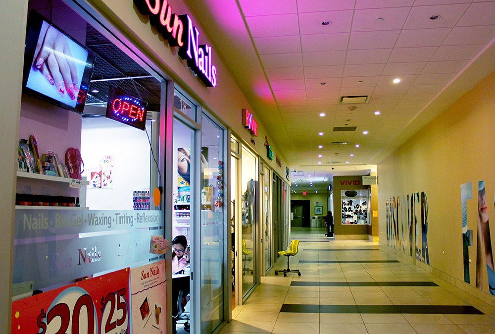The hallways appear empty in the underground mall. (Lee North/Ryersonian Staff)