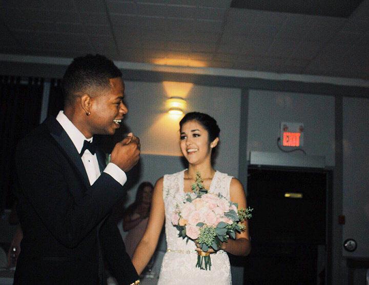 Richard Campos (left) and Jasmine (right) at their wedding. Photo courtesy Stephanie Bridge.