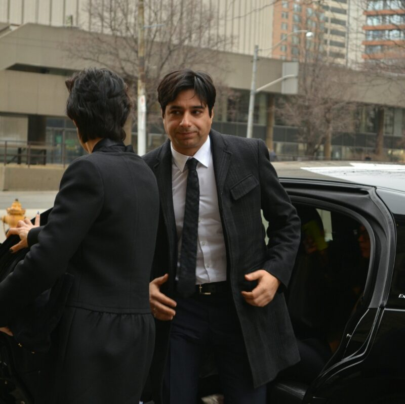 #Ghomeshi walking into the courthouse this morning. Picture taken by reporter @aidan4jrn
