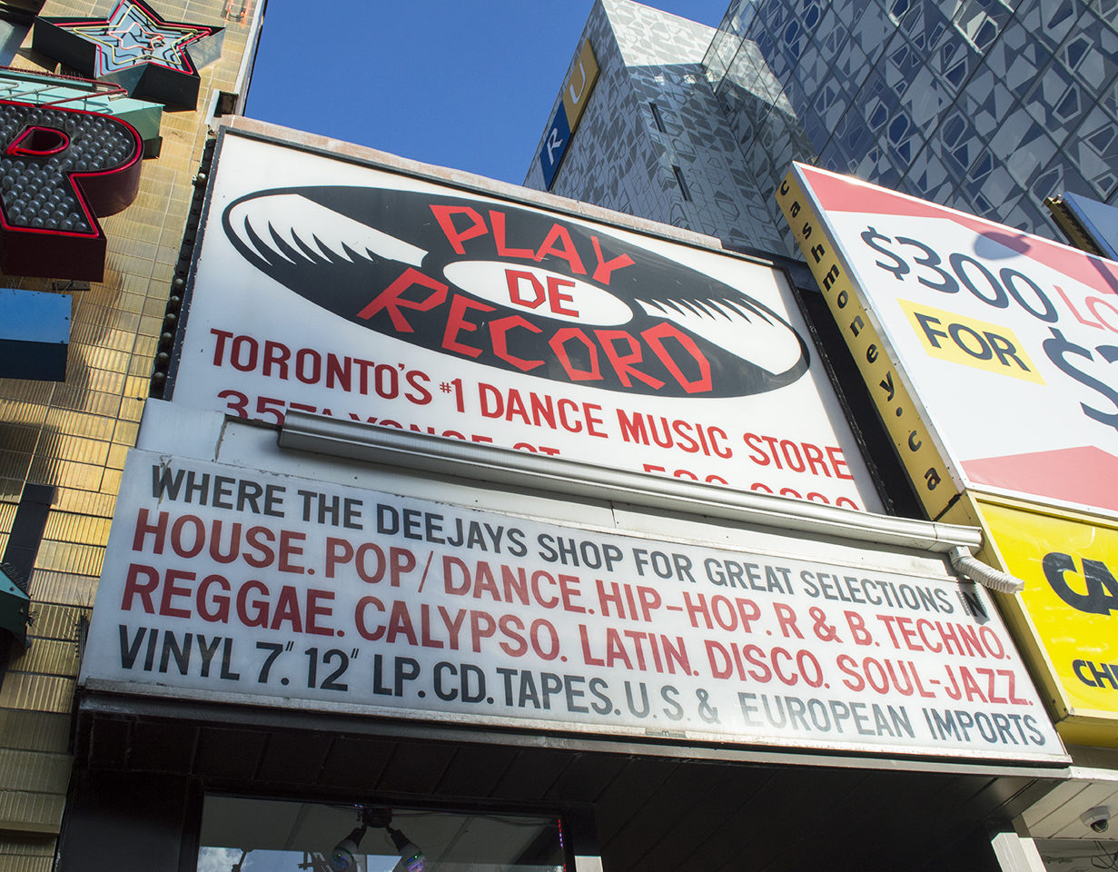 Play De Record will be closing it's Yonge Street doors and moving to Kensington Market in March 2016 (Olivia McLeod/Ryersonian Staff).