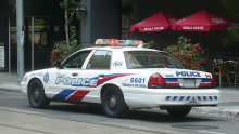 Toronto police cruiser parked downtown Toronto. (Courtesy Wikimedia Commons)