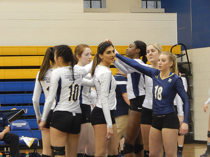 Ryerson's women's volleyball team are heading back into the OUA Final Four after defeating the Queen's Gael's Saturday afternoon.