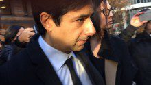 Jian Ghomeshi leaving Old City Hall on Feb. 1, 2016, day one of the former CBC Radio host's, sexual assault trial (Lisa Coombs/Ryersonian Staff).