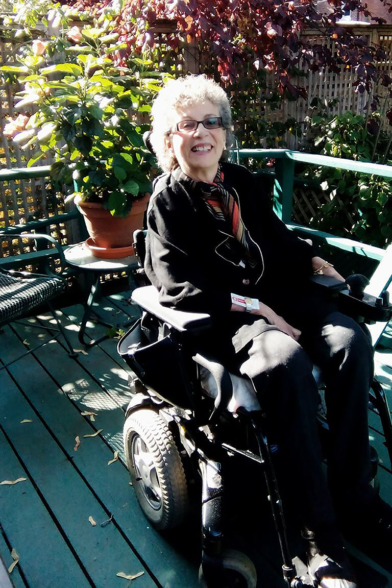 Julie Gibson started to use a power wheelchair in 2003 (Courtesy Julie Gibson).