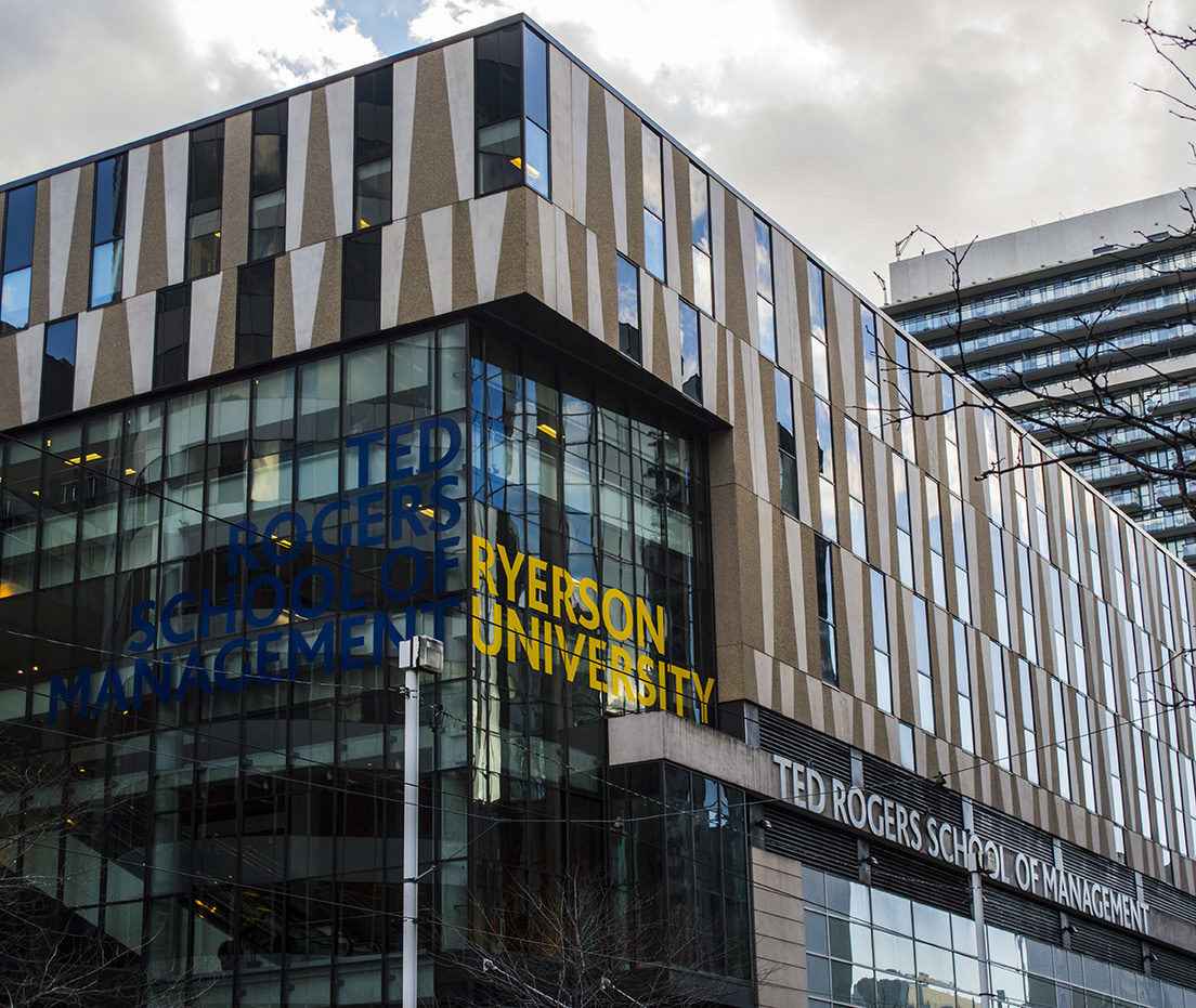 Students at the Ted Rogers School of Management feel that Ryerson's polytechnic past is hindering their chances of landing jobs. (Lilly Greenblatt/Ryersonian Staff)