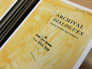 The Archival Dialogues, an exhibition that showcases readings of the famous Black Star Collection, was used as a case study for the talk. (Vanessa Francone/Ryersonian Staff)