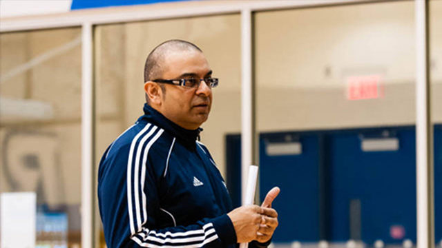 Coach Roy Rana inside the Mattamy Athletic Centre.(Ryerson Staff)