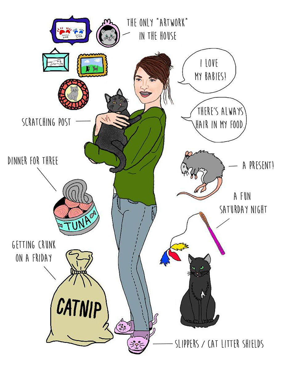 Online dating cat lady