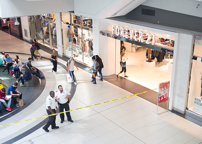 A section of the mall was closed off after the stabbing. (Hongen Nar)