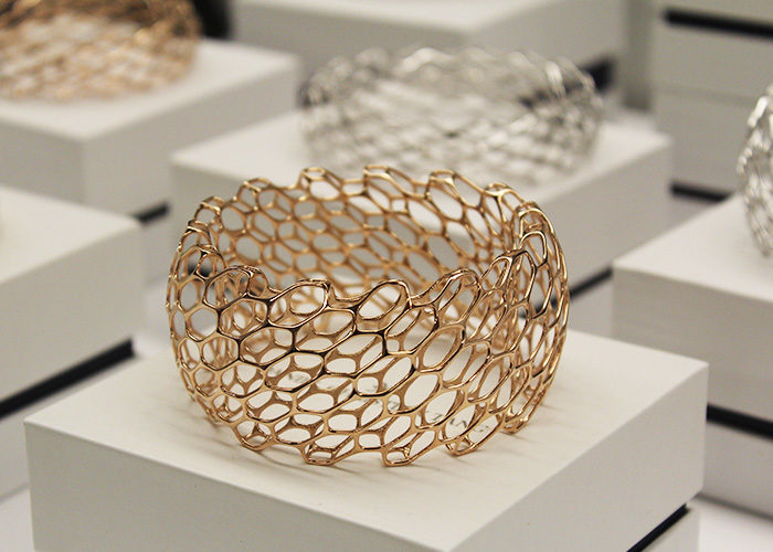 Daniel Christian Tang uses 3D printing to create intricate jewelry. The pieces are created using architectural modelling software with 3D digital manufacturing technology. (Robyn Fiorda)