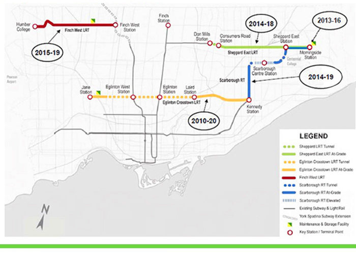 Metrolinx's map for Toronto LRT improvements. (Courtesy of Himy Syed via Flickr Creative Commons)