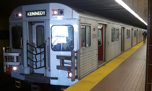 Picture of old TTC subway trains