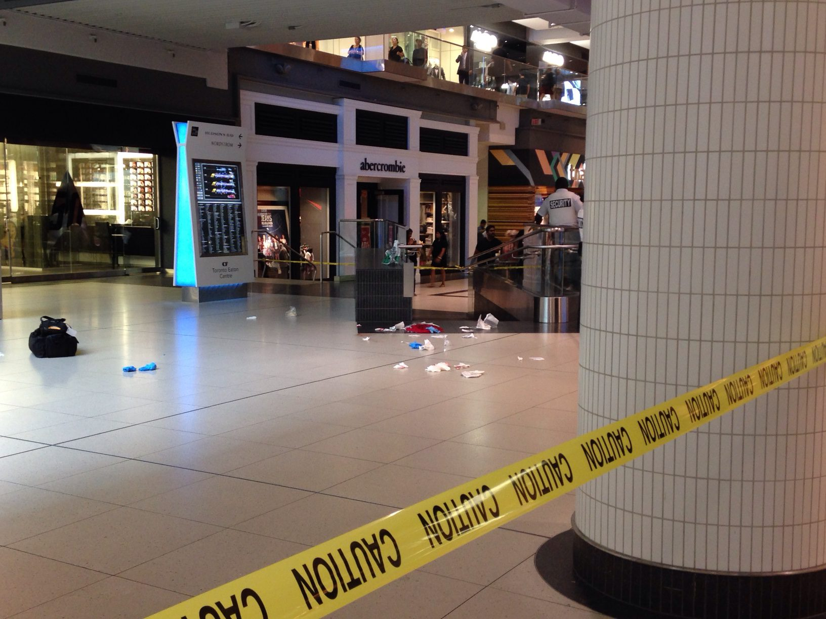 A man was stabbed multiple times inside Toronto Eaton Centre (Isabelle Docto)