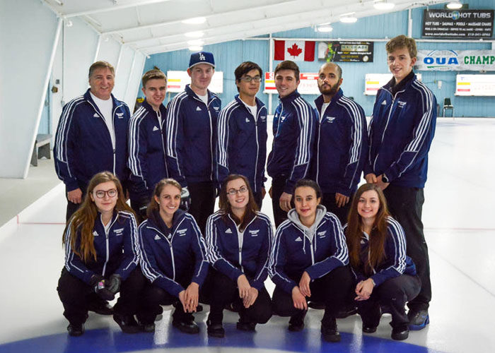 Ryerson Rams Curling Team, Photo by Jacob Thielen
