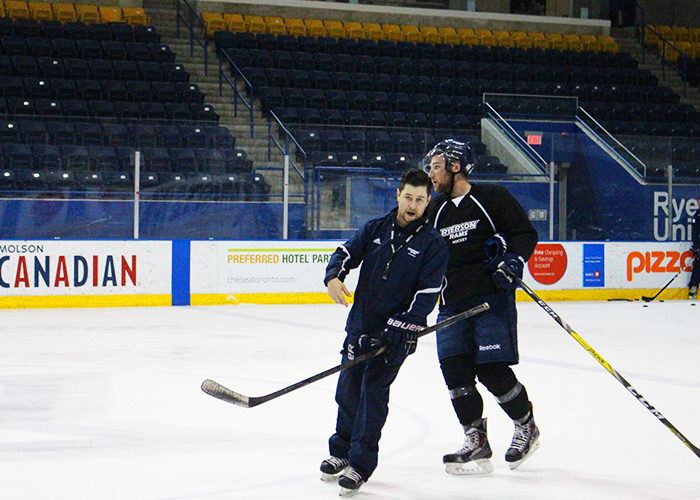 Ryerson men's hockey team makes a Wise replacement