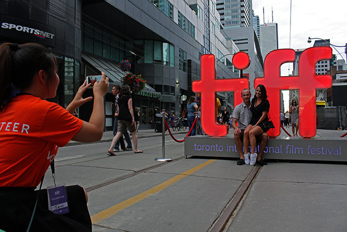 TIFF sign at Festival Street during The Toronto International Film Festival 2016