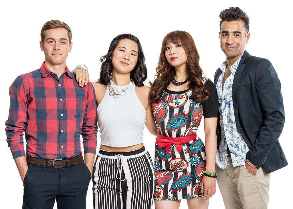 The cast of Second Jen. From left to right: Munro Chambers, Samantha Wan, Amanda Joy and Al Mukadam (Courtesy Oz John)