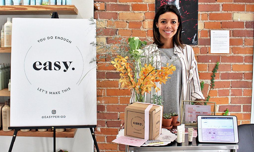 Alyssa Bertram at her pop-up shop at Studio67. (Kelsey Adams)