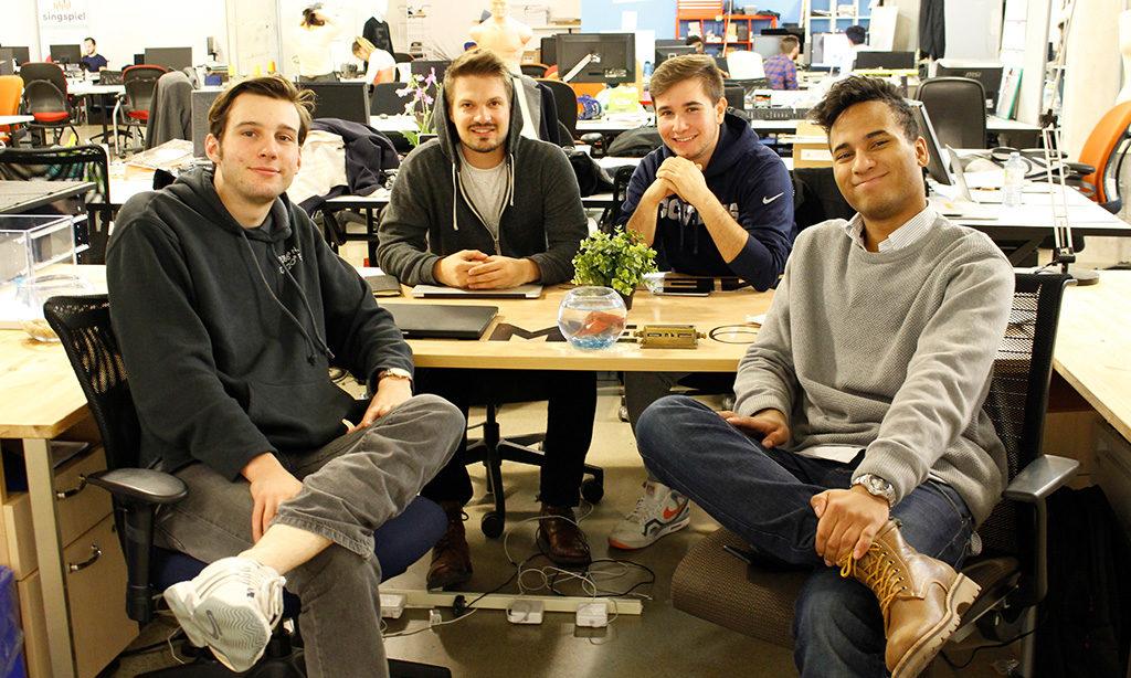 The team behind Gimme360 in their office at Ryerson's Fashion Zone (LR Alex De Jäger (Courtesy of Danielle Lee)