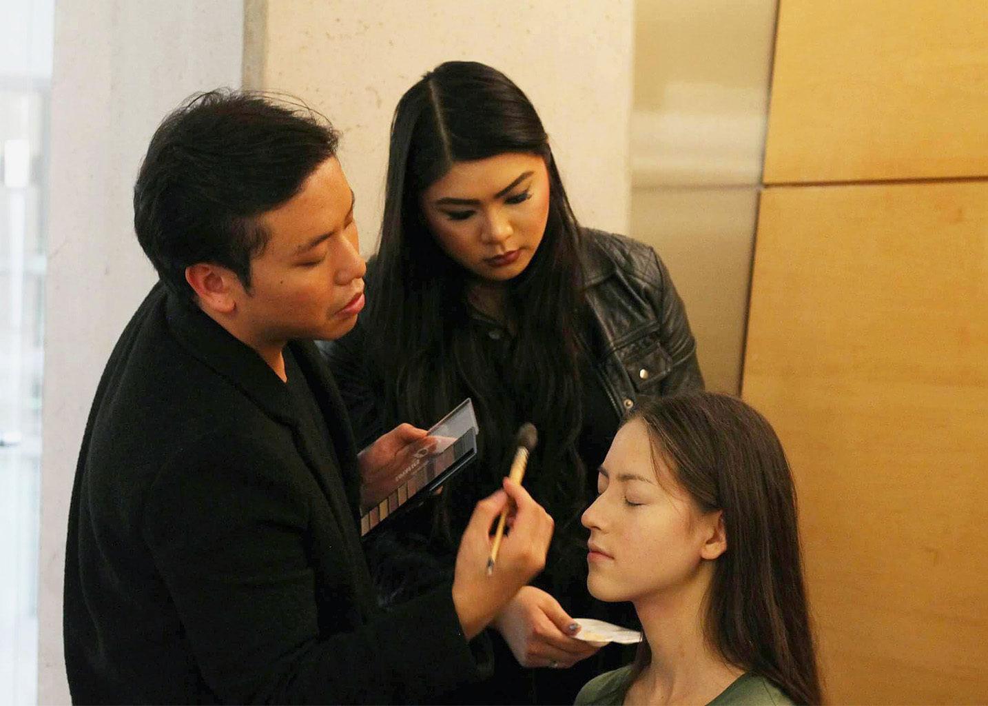 RyeBeauty founder Alan Law runs a beauty tutorial. (Courtesy Rye Beauty)