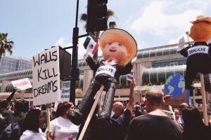 Anti-Trump protests in San Diego, California. (Courtesy Flickr)