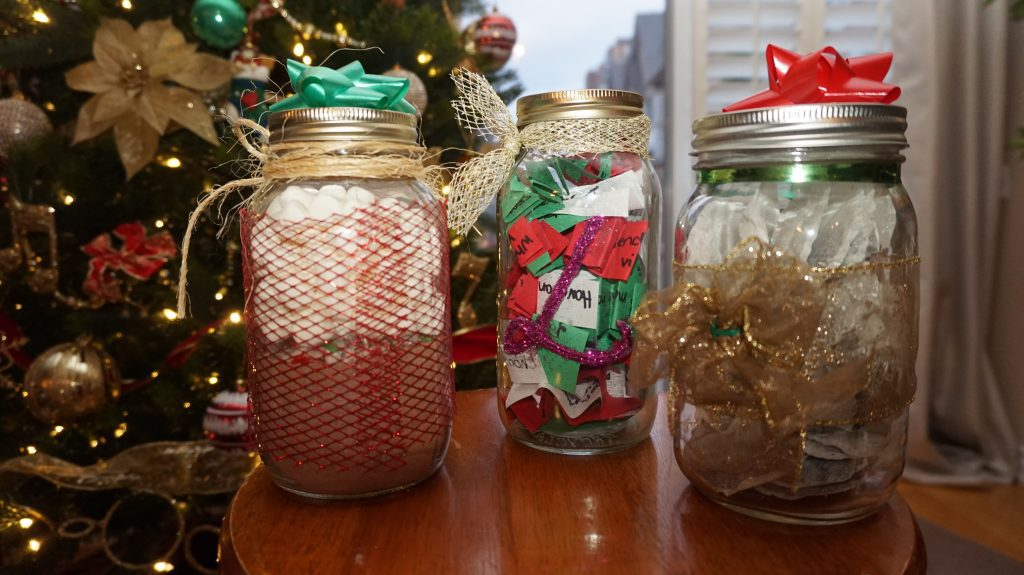 Mason jar gifts. (Courtesy Selena Singh)