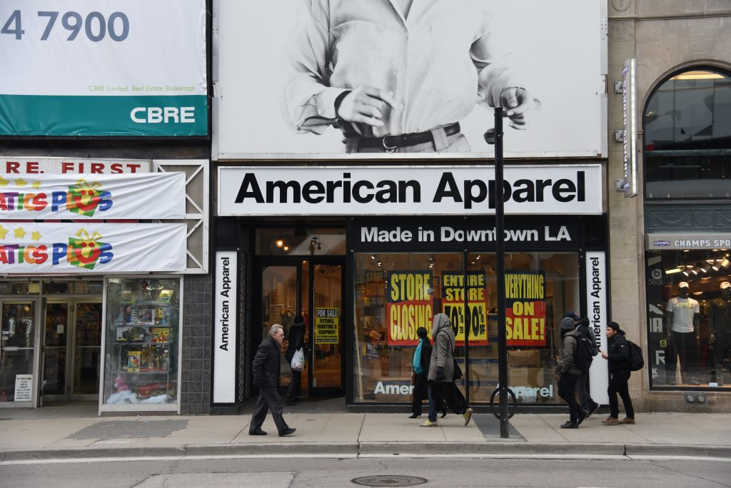 American Apparel bankruptcy felt by student employees