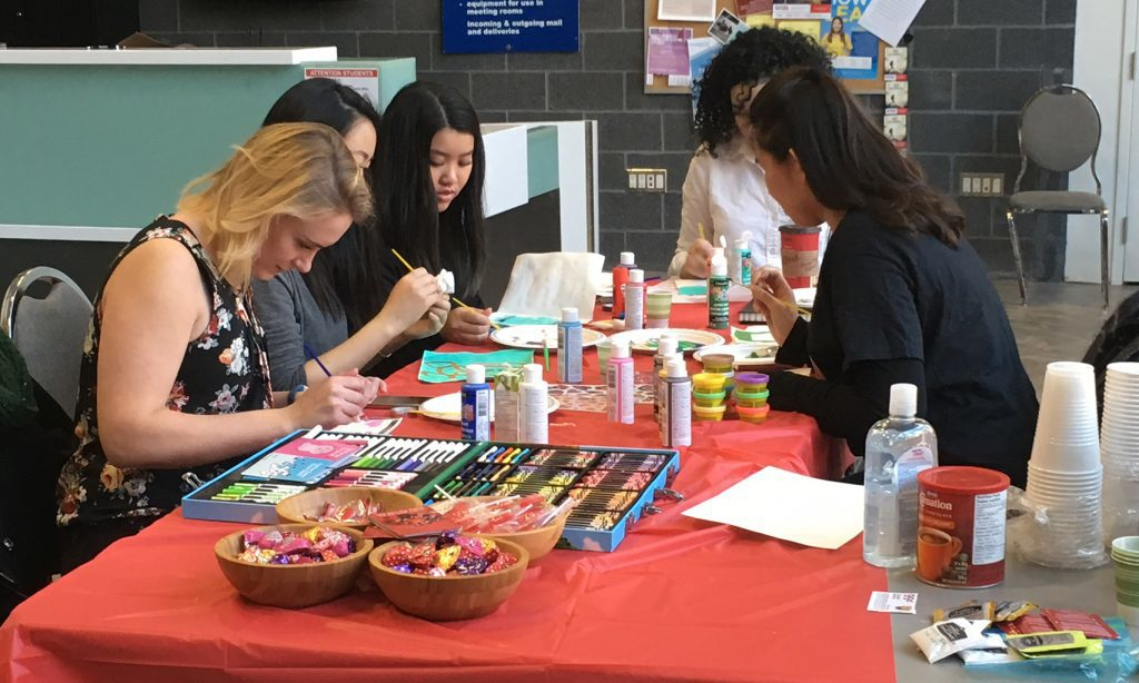 Ryerson group crafts valentines for Sick Kids Hospital