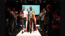Photo Courtesy Adrian Arnieri. Adrian Arnieri showcases his collection The Electric Lady's at the 2017 Ryerson fashion show Mass Exodus.