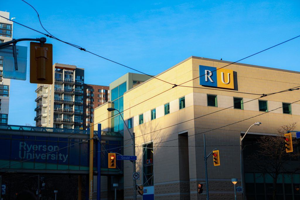 View of Ryerson University from Gould Street